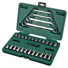 Универсальный набор инструмента, 35пр. Комбинированный (Metric) пласт.кор.
