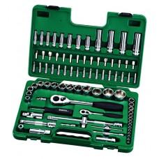 Универсальный набор инструмента,  86пр. Головки, биты с принадлеж. (Metric) пласт.кор.